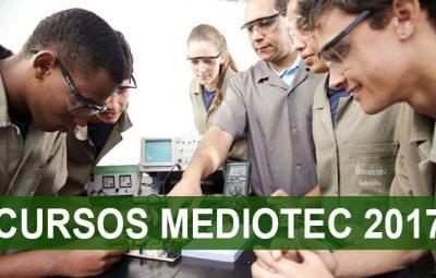 Mediotec 2017 400x255 - Estudantes do ensino médio ainda podem se inscrever em cursos técnicos gratuitos