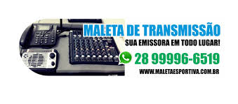 Maleta Esportiva : Equipamento de transmissão esportiva para rádio via celular