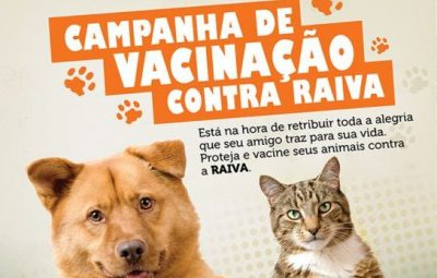 vacinacao 400x255 - SEMUS organiza campanha de Vacinação Antirrábica Animal 2017