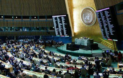 onu 400x255 - ONU condena por ampla maioria a decisão dos EUA sobre Jerusalém