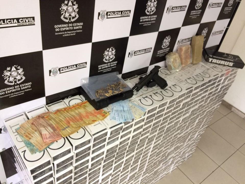 Polícia Civil apreende R$ 50 mil em cigarros falsificados em Vila Velha