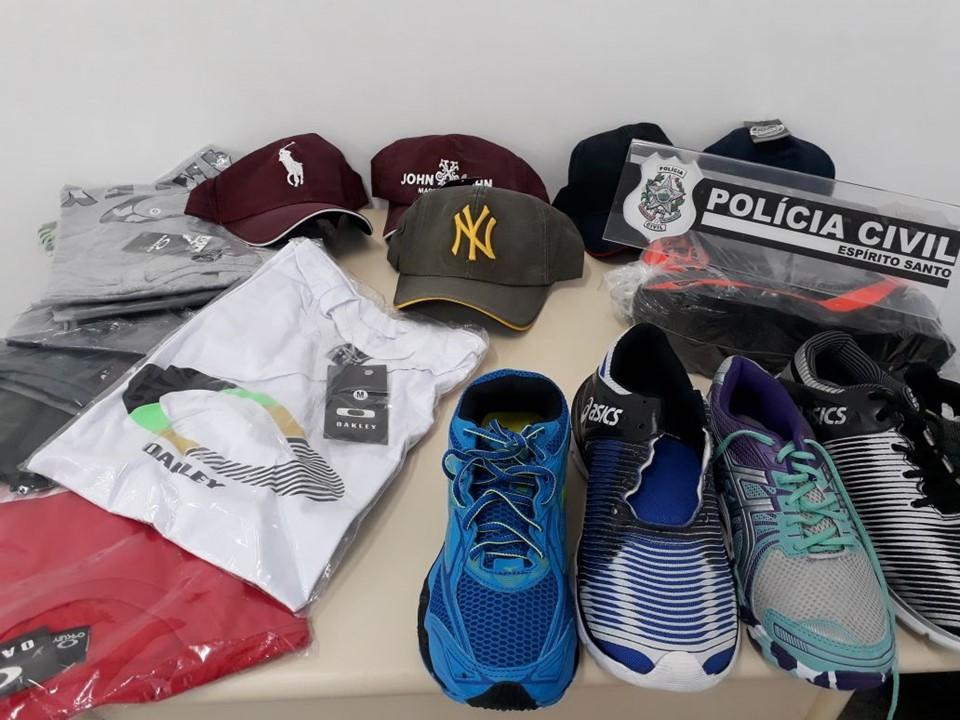 """Polícia Civil apreende mais de 10 mil produtos falsificados durante """"Operação Vitrine"""""""