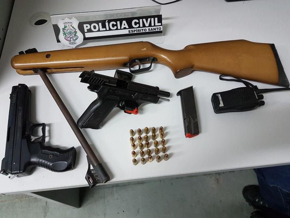 Três pessoas são detidas e uma pistola turca é apreendida na Serra