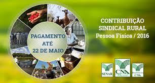 Contribuição Sindical Rural vence em 22 de maio