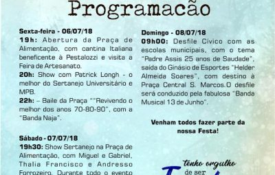 iconha 3 400x255 - Prefeitura de Iconha divulga programação oficial da Festa do Município