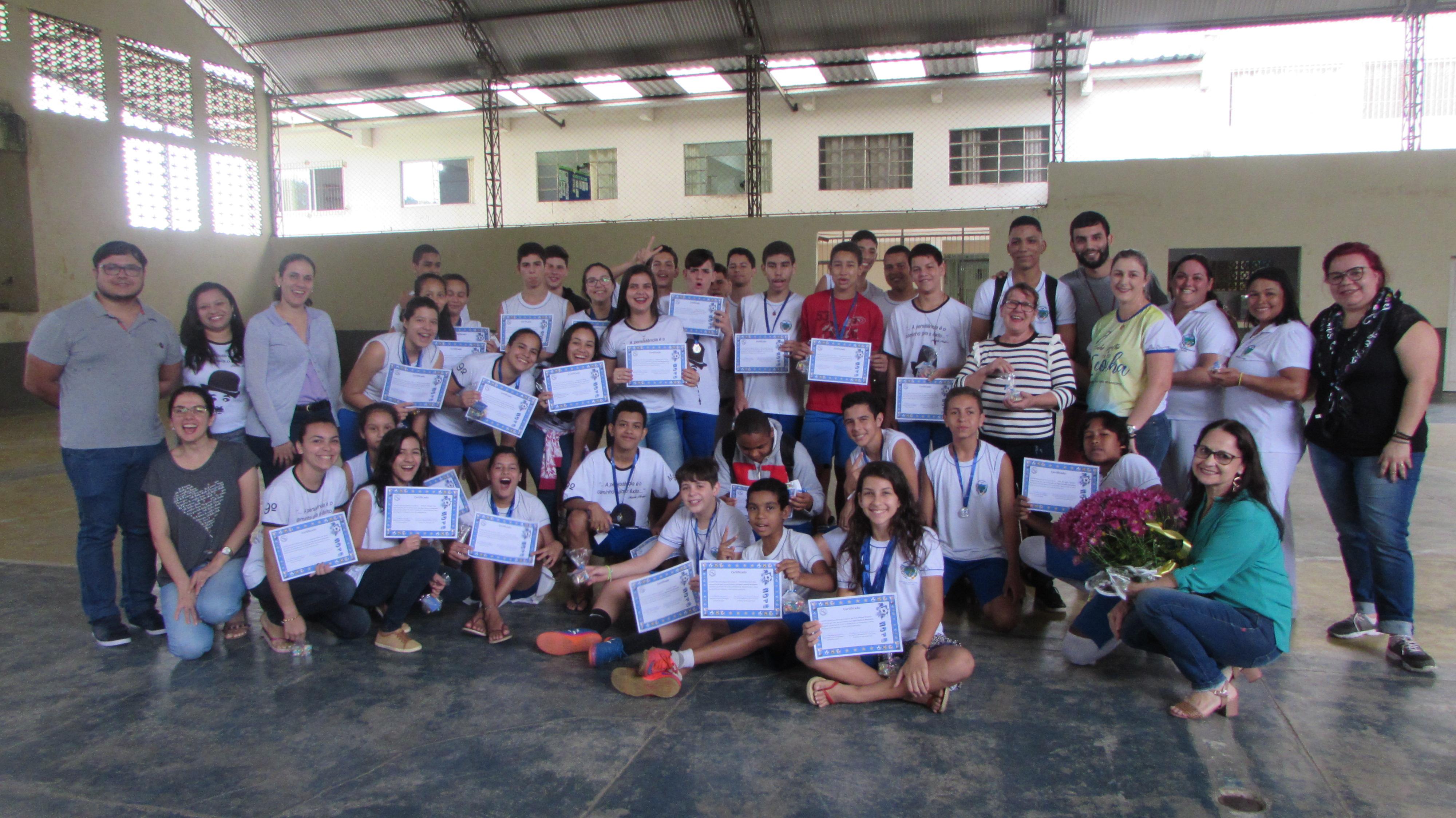 Iconha: Escola Marcelino Biancardi realiza comemoração para equipe dos Jogos Escolares