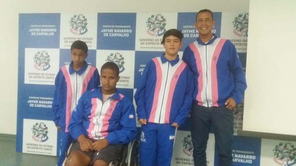 Alunos e treinador de Iconha convocados pela seleção Capixaba para os jogos paralímpicos
