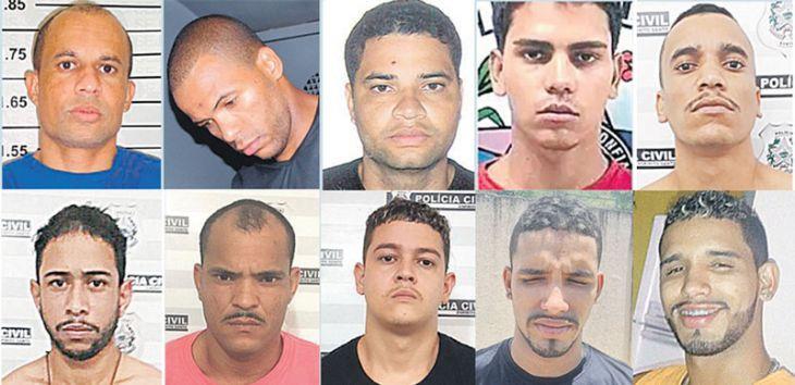 """Lista dos """"Chefões do Crime"""" do Estado reúne assassinos, traficantes e líderes de quadrilhas"""