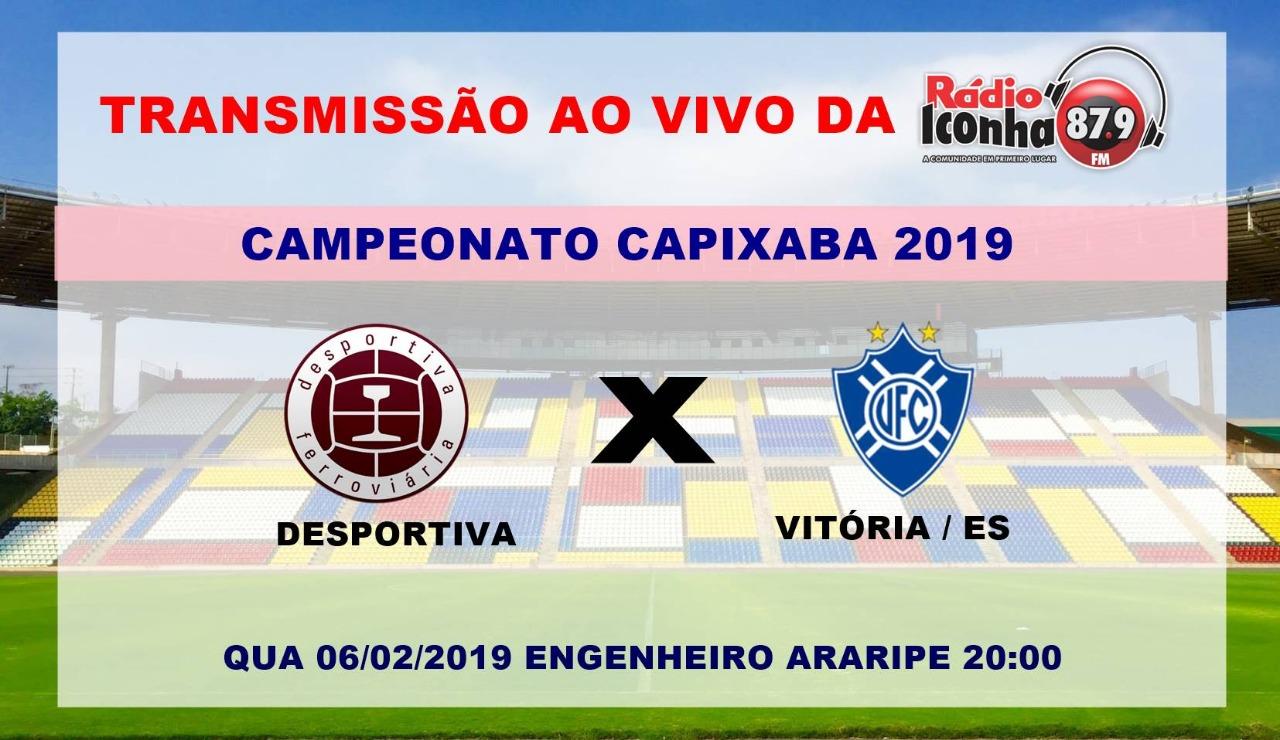 Rádio Iconha FM 87,9 transmite Desportiva x Vitória nesta quarta.