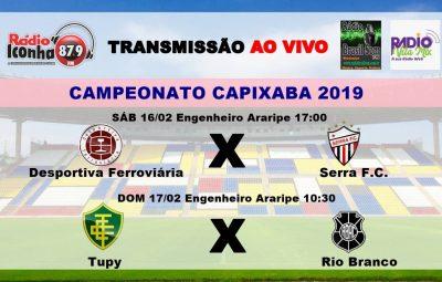 campeonato capixaba 2019 400x255 - Rádios Iconha FM, Vila Mix e Brasil Som se juntam e transmitem dois jogos nesse final de semana pelo Capixabão