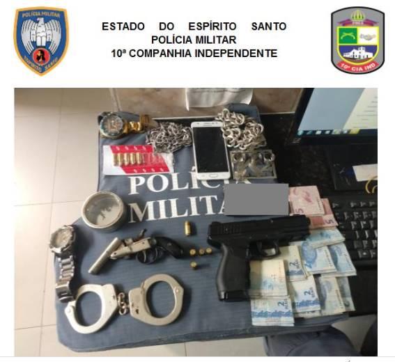 PM REALIZA APREENSÕES DE DROGAS E ARMAS EM PIÚMA