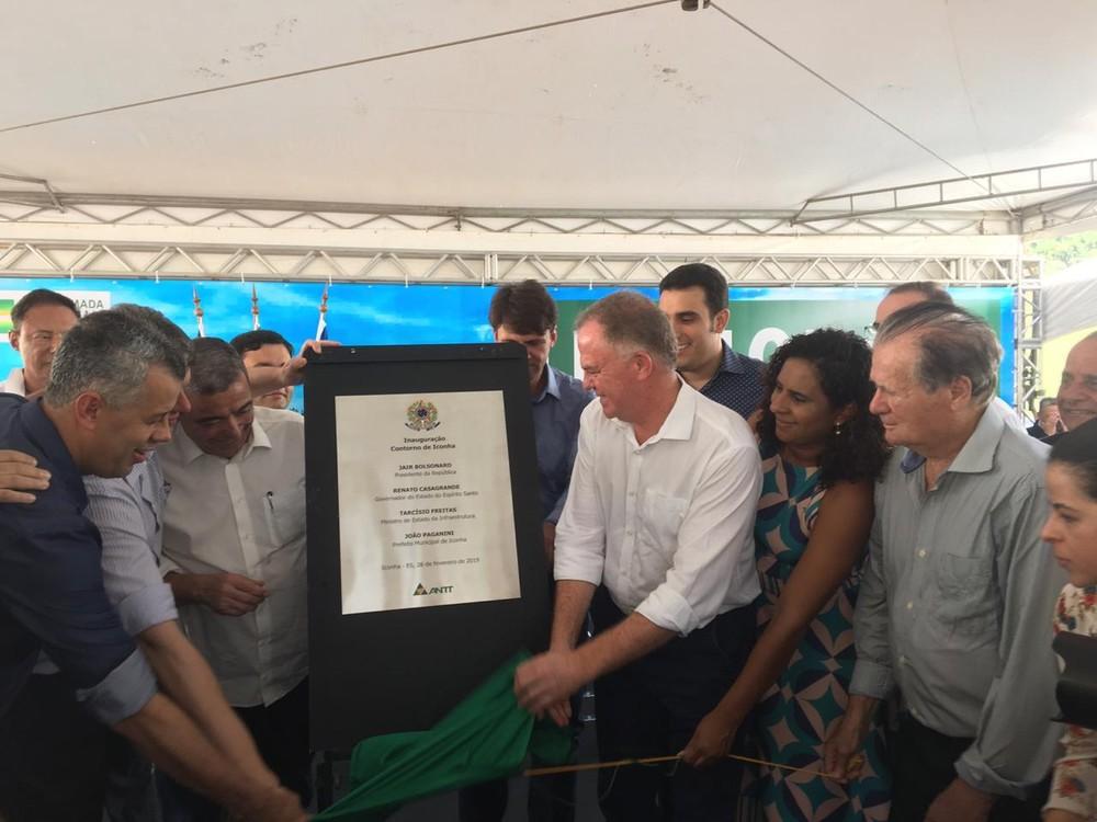 Contorno de Iconha é inaugurado após dois anos de espera no ES