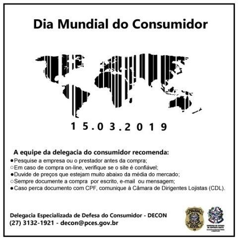 Dia Mundial do Consumidor: Policia Civil dá dicas de como se proteger de possíveis golpes
