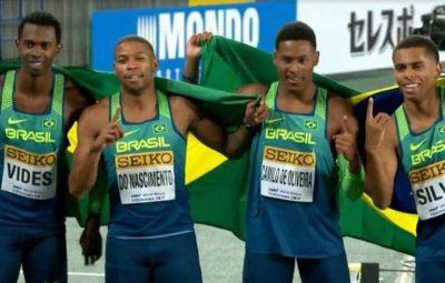 Brasil é campeão mundial do revezamento 4x100 no Japão 400x255 - Brasil é campeão mundial do revezamento 4x100 no Japão