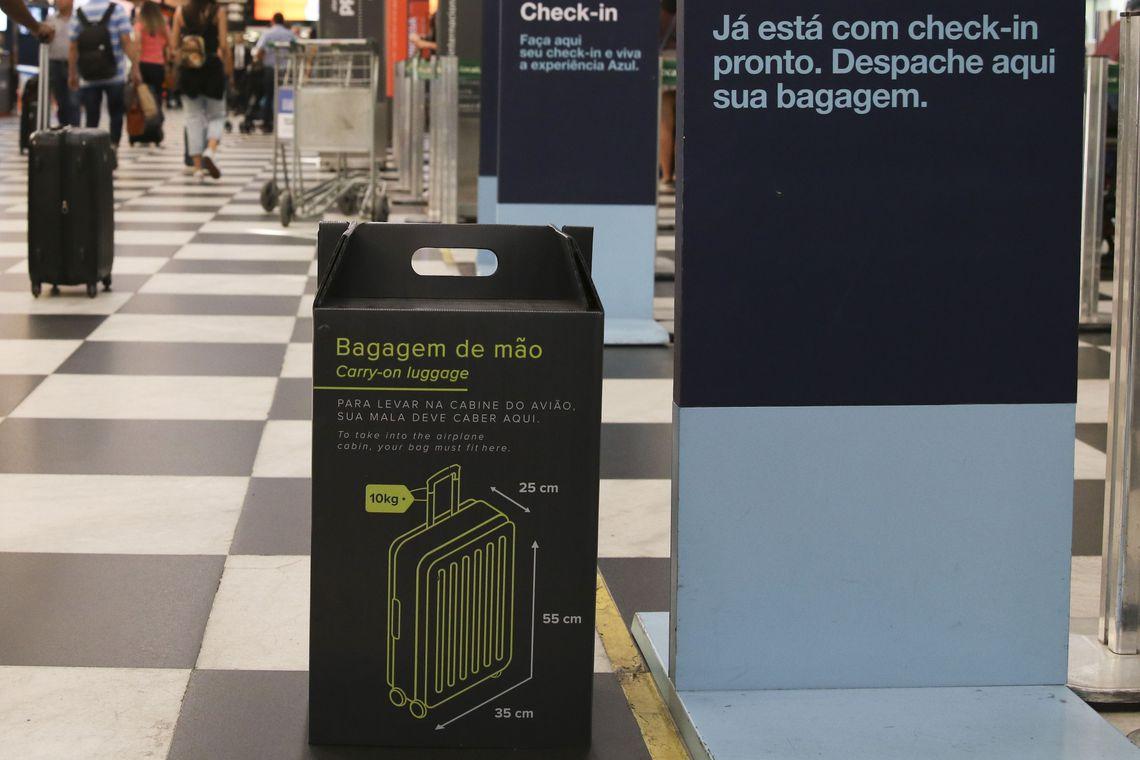 Mudanças nas regras para despachar bagagens já valem em Congonhas