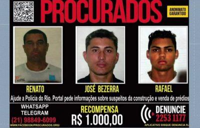 procurados muzema 400x255 - Polícia Civil faz operação na Muzema, onde prédios desabaram no Rio
