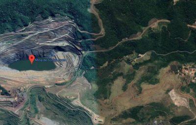 situação da mina Gongo Soco 400x255 - Ruptura iminente em Barão de Cocais faz Vale paralisar ferrovia