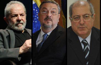 Lula Palocci e Paulo Bernardo 400x255 - Lula, Palocci e Paulo Bernardo vão responder por suspeita de corrupção