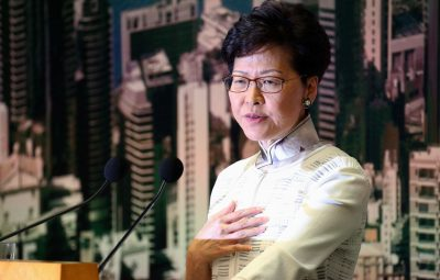 chefe executiva de Hong Kong Carrie Lam 400x255 - Chefe executiva de Hong Kong rejeita demandas de manifestantes