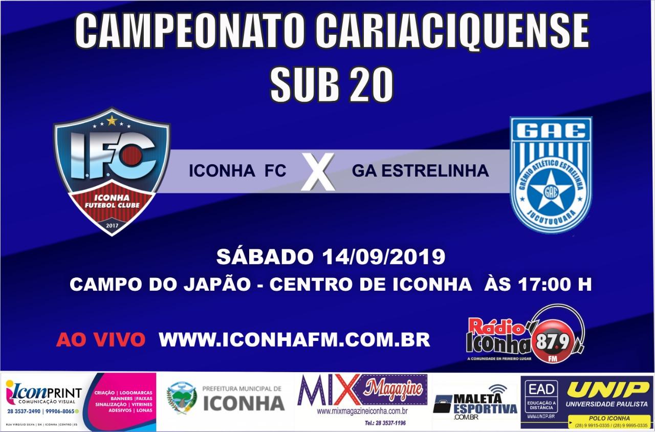 Em jogo adiado, Iconha FC recebe o GA Estrelinha neste sábado
