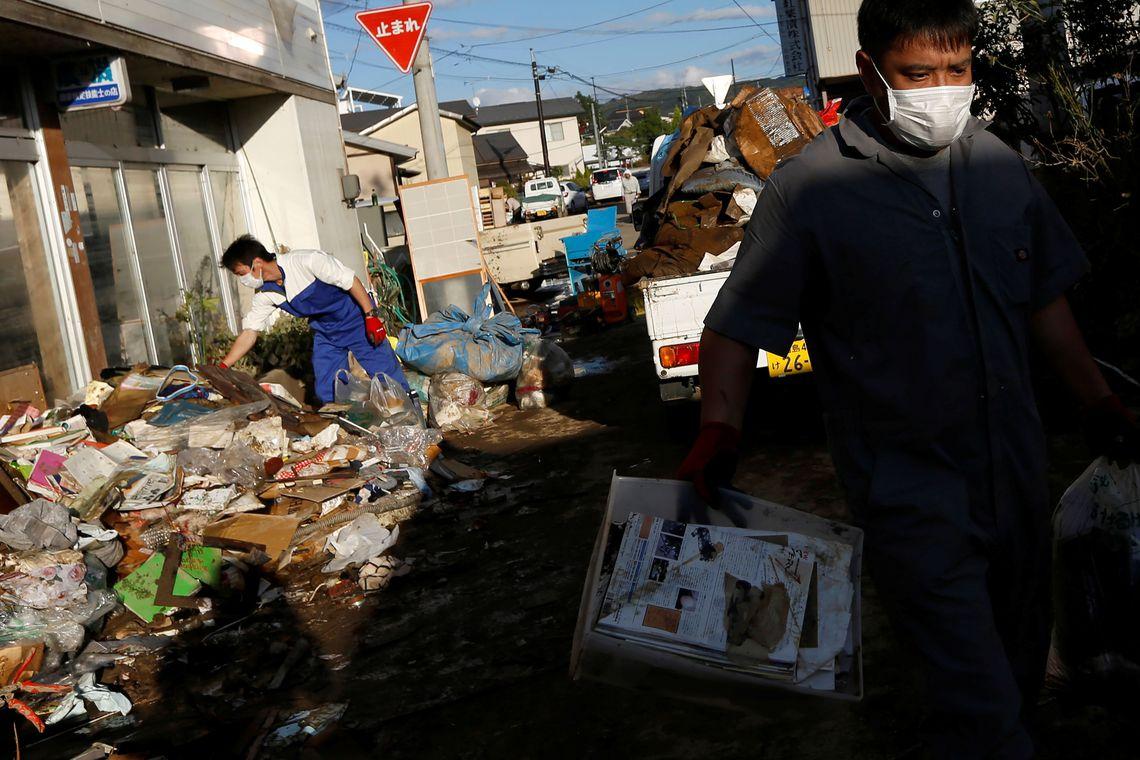 Prejuízos causados pelo Tufão Hagibis no Japão continuam a subir