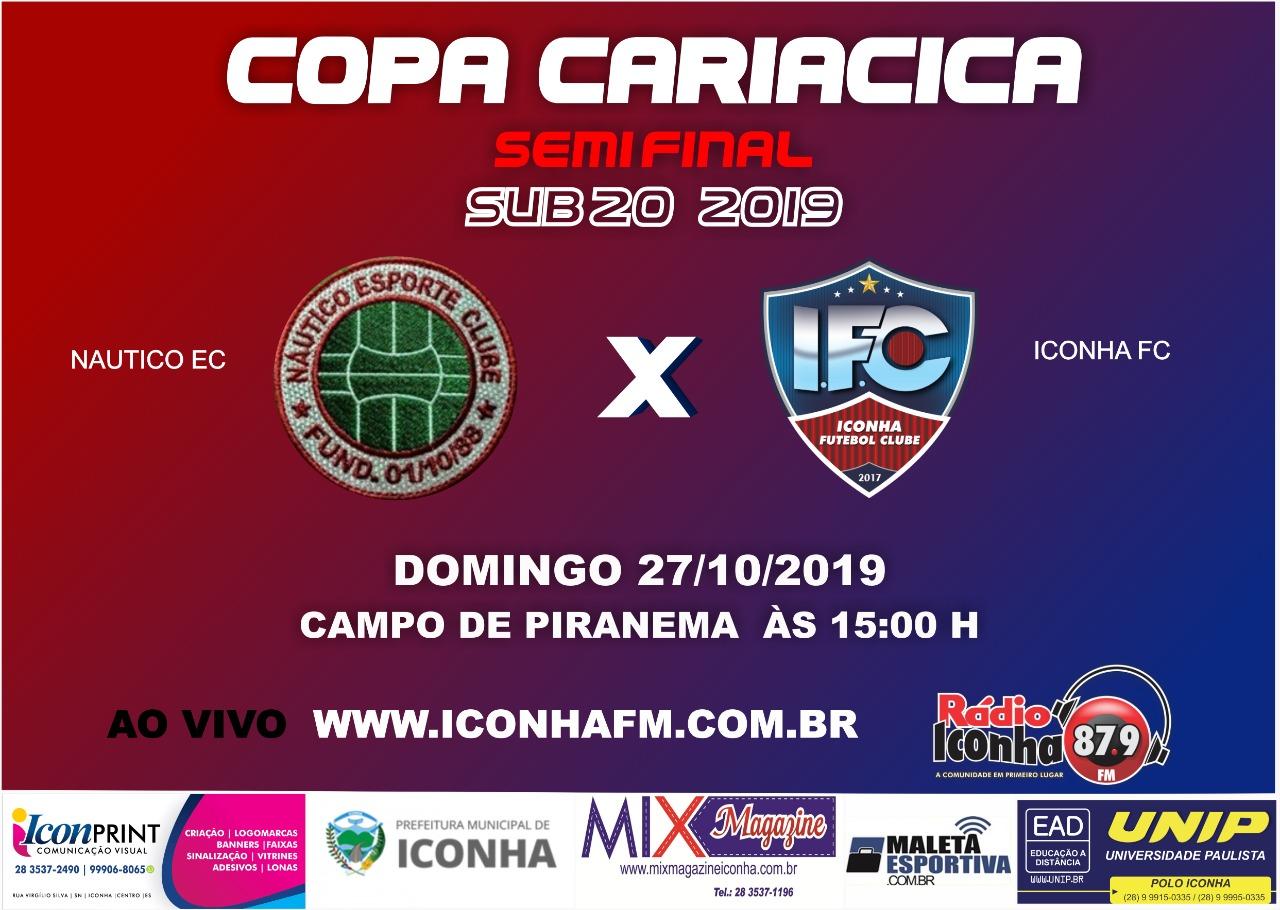 Iconha e Esporte Clube brasil decidem semifinal do Cariacica sub 20 em casa
