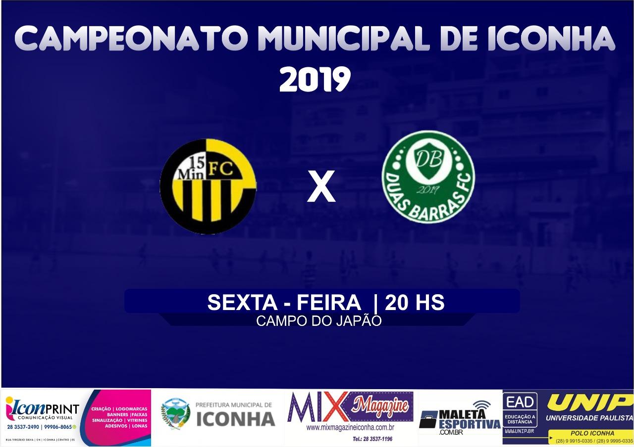 Dois Jogos fecham a terceira rodada do campeonato Municipal de Iconha
