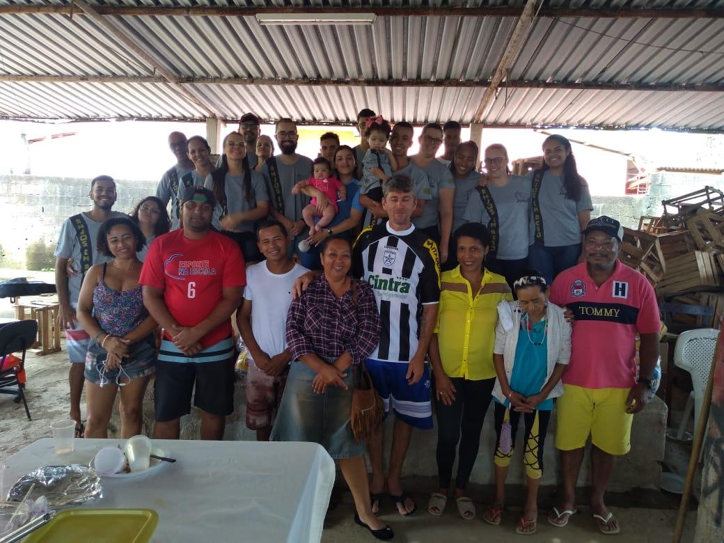 Grupo de Jovens que desenvolvem ações sociais  ajudam associação em Rio Novo do Sul