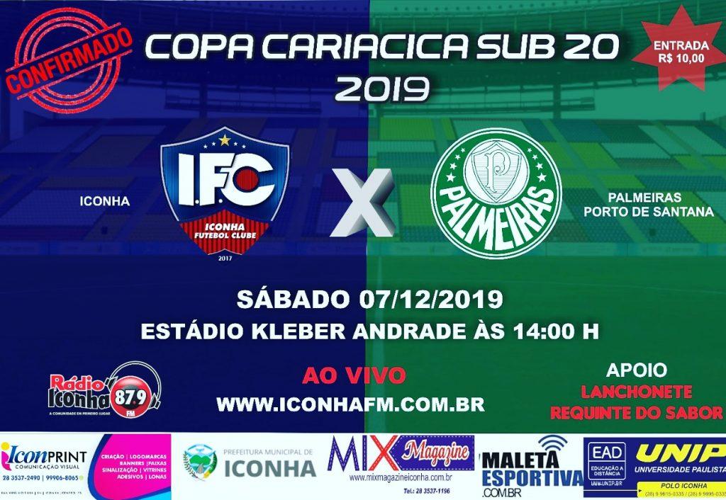 sub20 1024x706 - Iconha e Palmeiras decidem sub20 no Kleber Andrade
