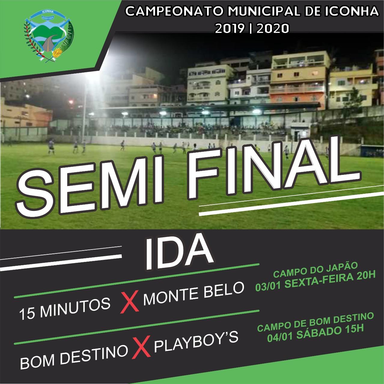 Vão começar as semifinais do Municipal de Iconha