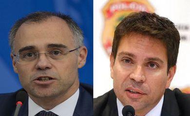 andre luiz de almeida mendonca e alexandre ramagem rodrigues - Bolsonaro nomeia André Mendonça para a Justiça e Ramagem para a PF