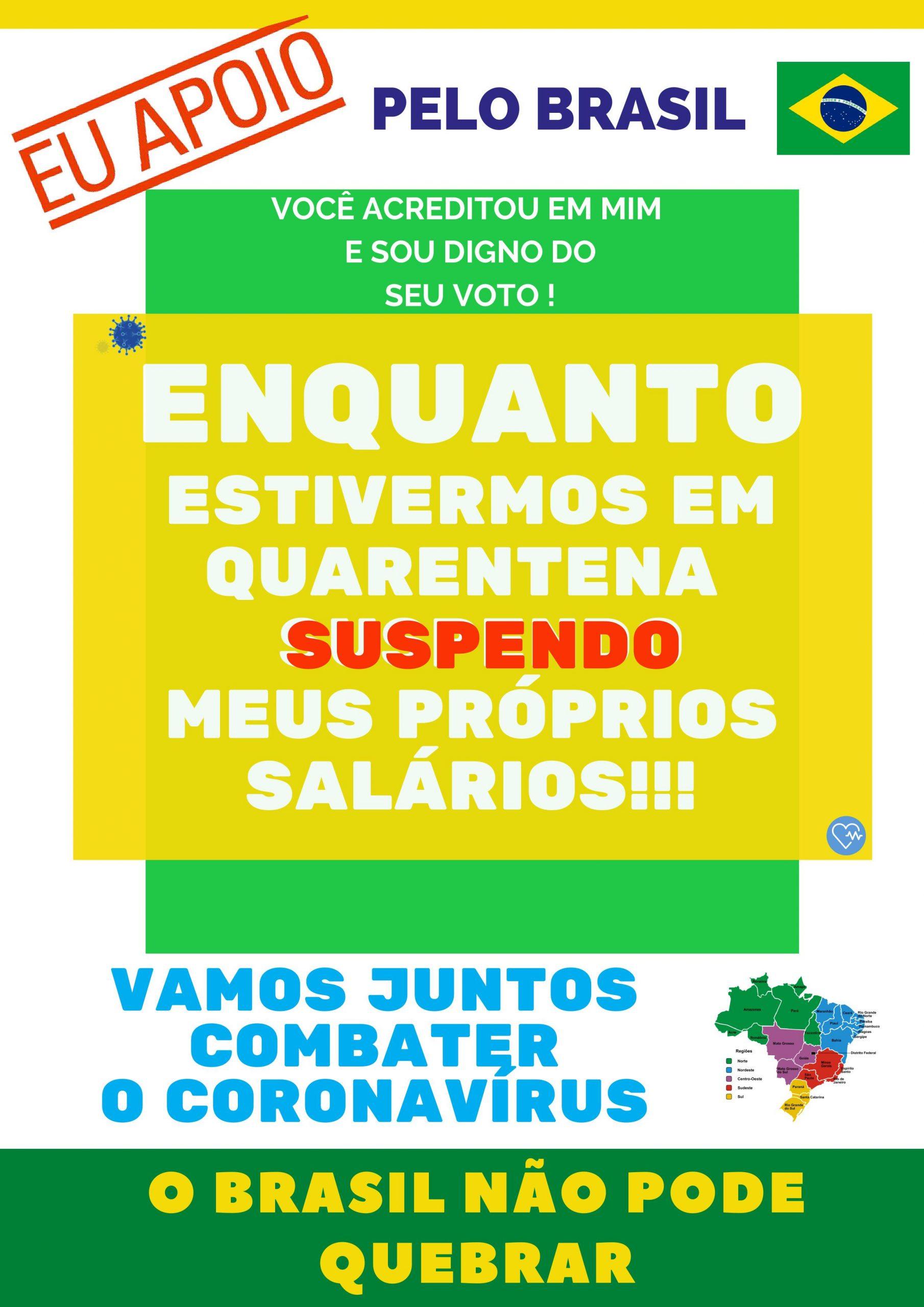 Mais um honrando o voto: Prefeito de Paripueira em Alagoas corta o próprio salário na pandemia do coronavírus
