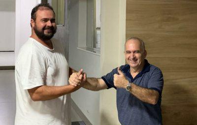 mauri e adelmo 400x255 - Vice prefeito e empresário fecham chapas para disputar as eleições de Iconha