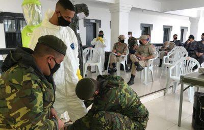 release 041.5 400x255 - POLICIAIS DA 10ª CIA IND PARTICIPAM DE CAPACITAÇÃO TÉCNICA EM DESINFECÇÃO DE ÁREAS