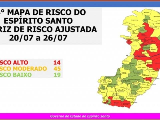 Iconha retorna a zona de risco baixo no Mapa de Risco Covid-19