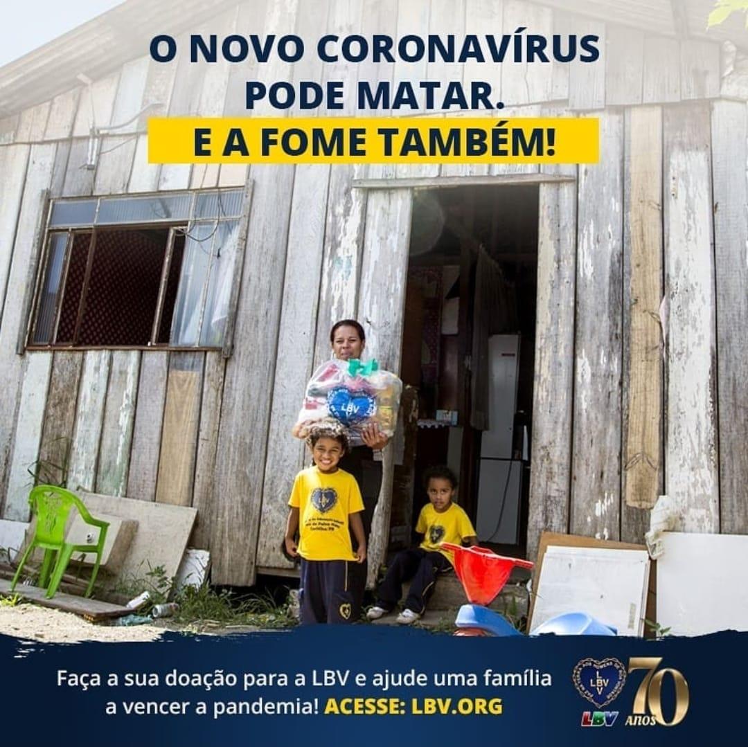 LBV distribui alimentos para famílias carentes da grande Vitória