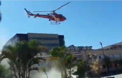 acidente 400x255 - Helicóptero do Corpo de Bombeiros cai no Distrito Federal