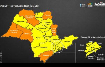 Covid 19 no estado de São Paulo 400x255 - Pela primeira vez, estado de São Paulo não tem regiões na fase vermelha