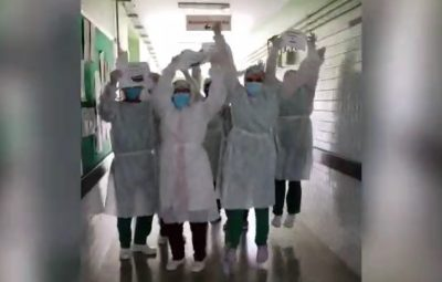Hospital de Teresina zera internações de Covid 19 e funcionários comemoram 400x255 - Hospital de Teresina zera internações de Covid-19 e funcionários comemoram