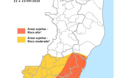Aviso Meteológico 22 09 1 400x255 - Aviso Meteorológico Especial alerta para pancadas de chuvas e rajadas de vento