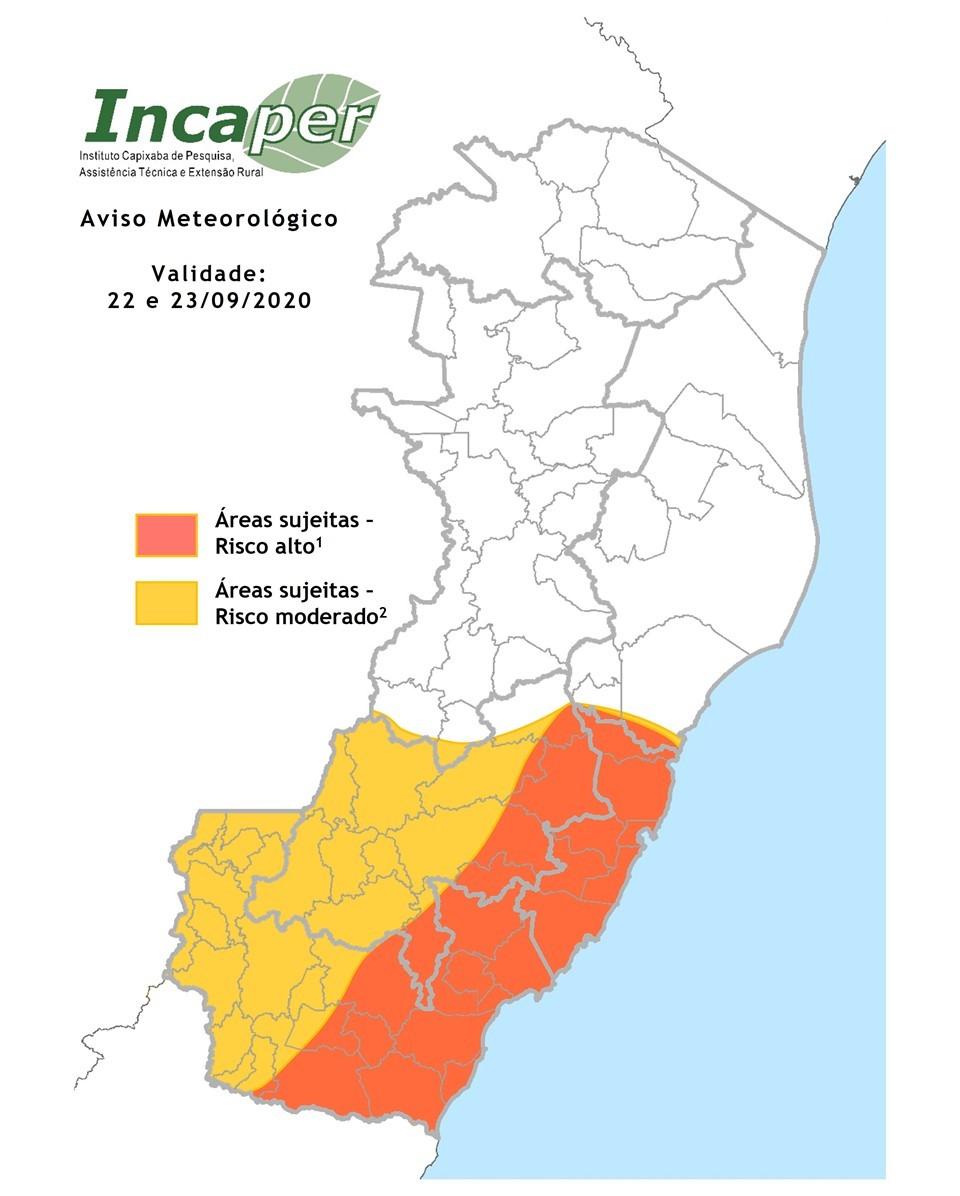 Aviso Meteorológico Especial alerta para pancadas de chuvas e rajadas de vento