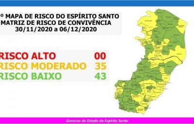 33o MAPA DE RISCO ES 400x255 - Governo do Espírito Santo divulga 33º Mapa de Risco Covid-19