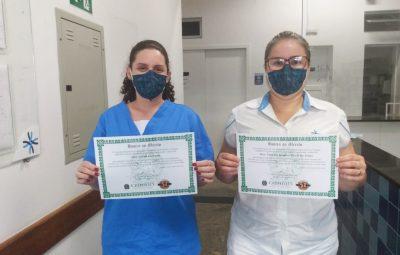 HONRA AO MERITO 400x255 - Fisioterapeutas da Santa Casa recebem homenagem por trabalho durante pandemia