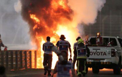 grosjean acidente gp do bahrein 400x255 - Grosjean elogia quem o salvou de acidente, e FIA inicia investigação