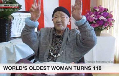 Tanaka 400x255 - Japonesa mais idosa do mundo faz aniversário de 118 anos