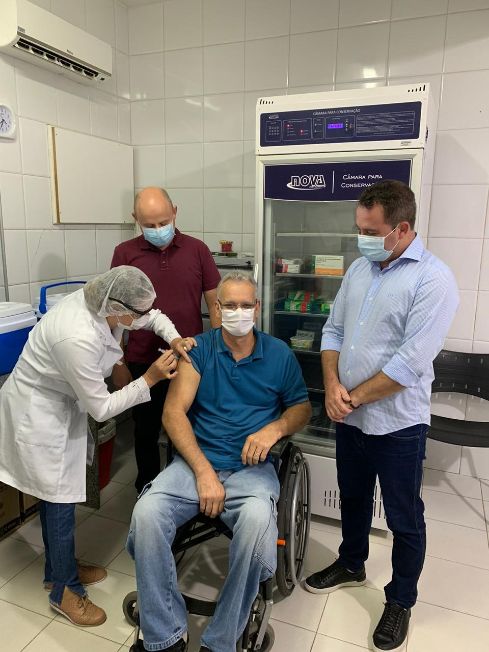 Prefeitura de Iconha inicia vacinação contra Covid 19.
