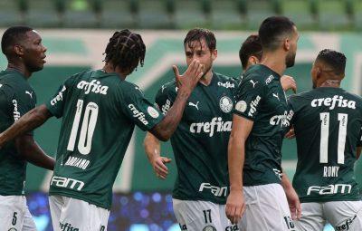 palmeiras 400x255 - Brasileiro: Palmeiras e Atlético-GO empatam em 1 a 1