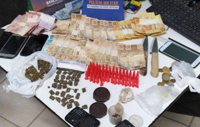 REELASE 010.1 400x255 - 10ª CIA IND APREENDE DROGAS E DETÉM CINCO NO FINAL DE SEMANA