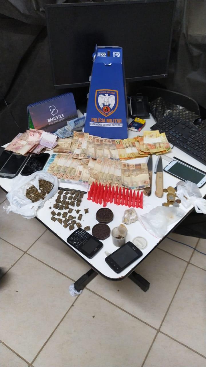 10ª CIA IND APREENDE DROGAS E DETÉM CINCO NO FINAL DE SEMANA