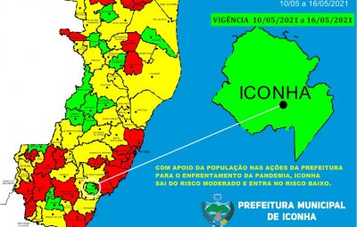 WhatsApp Image 2021 05 07 at 21.12.51 400x255 - Iconha entra em risco baixo para a transmissão da COVID-19